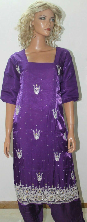Purple Designer  Traditional  Party Wedding   Salwar kameez Chest Plus Size 50