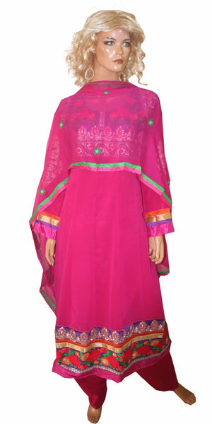 Load image into Gallery viewer, Hot PInk  Designer salwar kameez Wedding Party Wear Plus Sz 46  N81