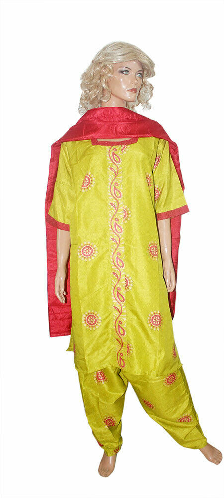 Load image into Gallery viewer, Green Cotton  Wedding Party  Designer  Chest 52 New Salwar kameez Dress