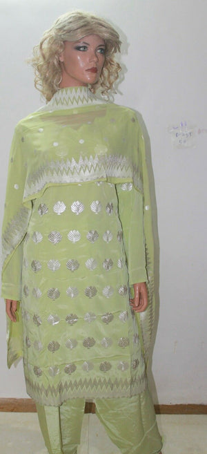 Load image into Gallery viewer, Green  Indian Clothing Dress Salwar suit By Manha Plus size 52