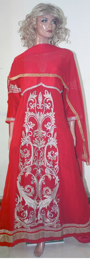 Thread  Embroidered Red Hot Collections Wedding  Salwar kameez Chest Size 48