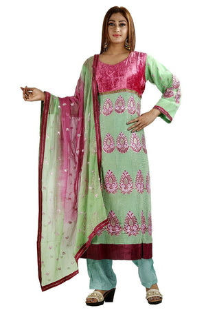 Load image into Gallery viewer, Green Anarkali  salwar Kameez Stylish Indian Wedding Party Chest size 44 & 50