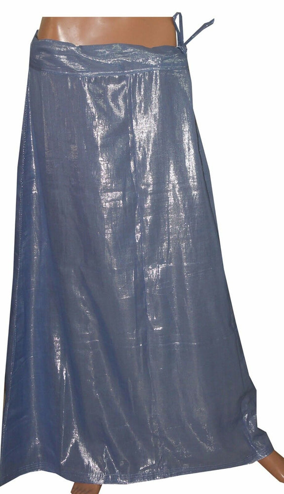 Load image into Gallery viewer, Blue Shimmer Indian sari Petticoat Underskirt belly dancing  slip New Arrivals