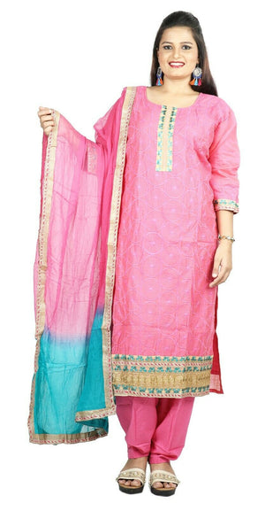 Pink Boutique Cotton Summer New Stitched Designer salwar kameez  Plus size 50