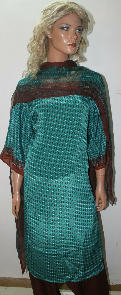 Load image into Gallery viewer, Green  Long  sleeves  ladies Salwar kameez dress Plus Chest  size 52
