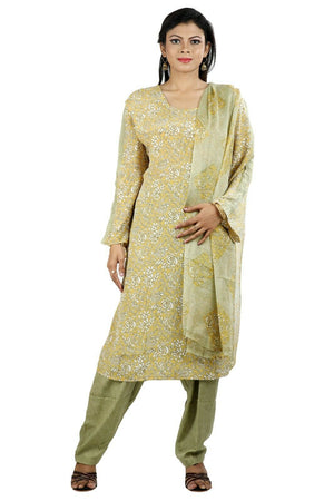 Olive  Soft Crepe Women Favorite Dress  salwar kameez Plus size 56 New arrivals
