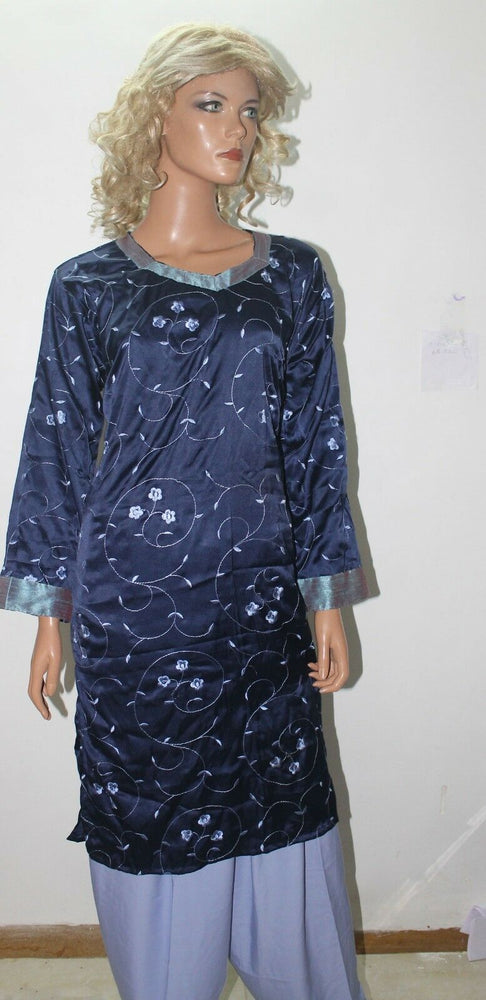 Blue  crepe Noor  Salwar Kmaeez  Collection Chest size 52