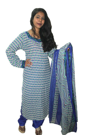 Load image into Gallery viewer, Blue  Designer Salwar kameez Kurta Dupatta pakistani Chest Size 44