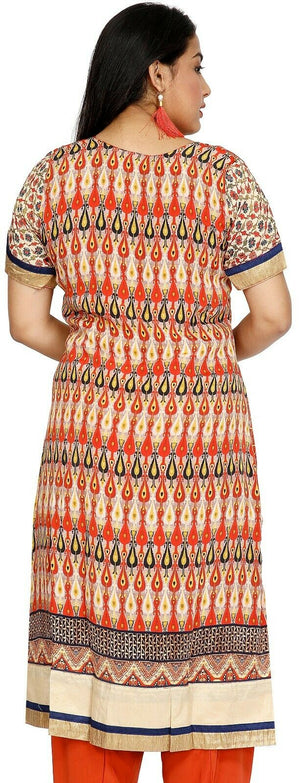 Orange Crepe  Designer Ethnic Indian  Salwar kameez chest size 50