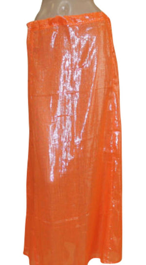 Load image into Gallery viewer, Orange  shimmer Indian saree Petticoat Underskirt belly dancing Lehanga slip