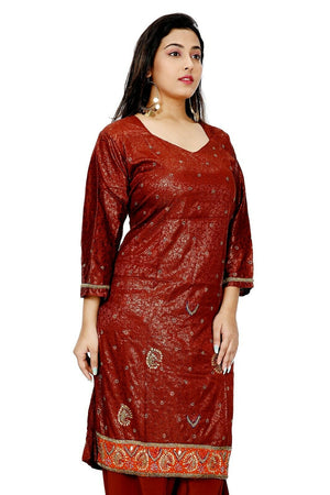 Maroon Wedding Party  Salwar kameez Kurta Dupatta Stitched  Chest  Plus size  52