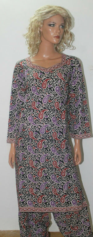Printed Cotton  Salwar kameez 3 Piece Full  sleeves Chest size 52 Ready to wear