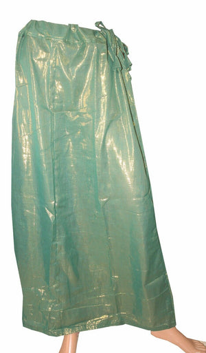 Green  Luxurious Shimmer skirt  Petticoat Underskirt belly dancing  slip