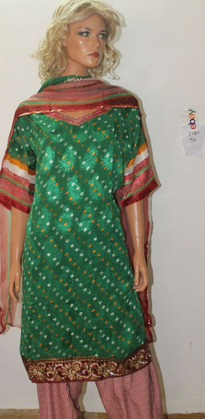Load image into Gallery viewer, Green  Dress salwar kameez Designs By Noor Plus size 52
