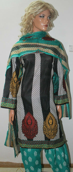 Load image into Gallery viewer, Black Full  sleeves Cotton Summer  Salwar kameez Stitched Plus size 52