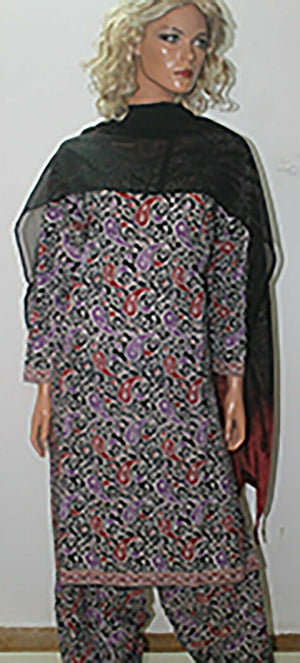 Load image into Gallery viewer, Printed Cotton  Salwar kameez 3 Piece Full  sleeves Chest size 52 Ready to wear