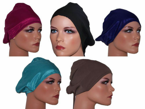 lot of 6 Hijab underscarf  cap Turban Hair Loss Scarf Chemo Soft Crepe