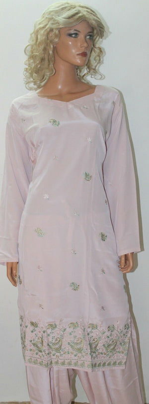 Dusty Pink Dress Salwar suit By Manha Plus size 52