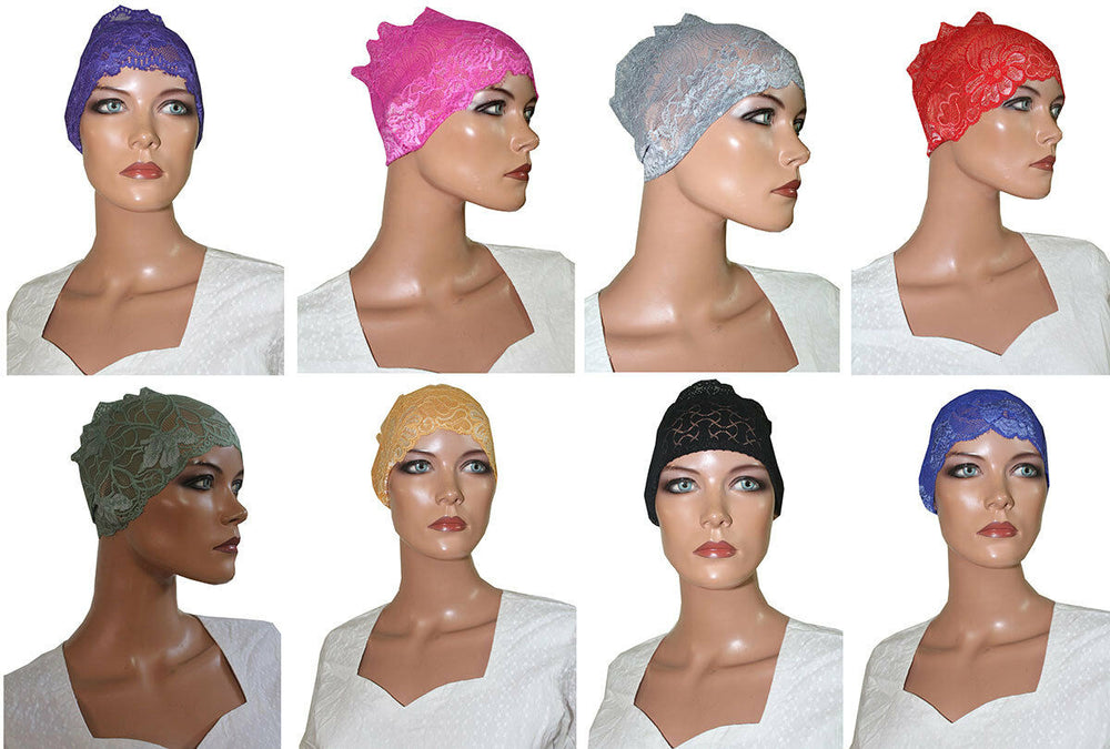 Load image into Gallery viewer, 12 Net Band Stylish Feminine Hijab Under scarf Cap Fashion Accessory