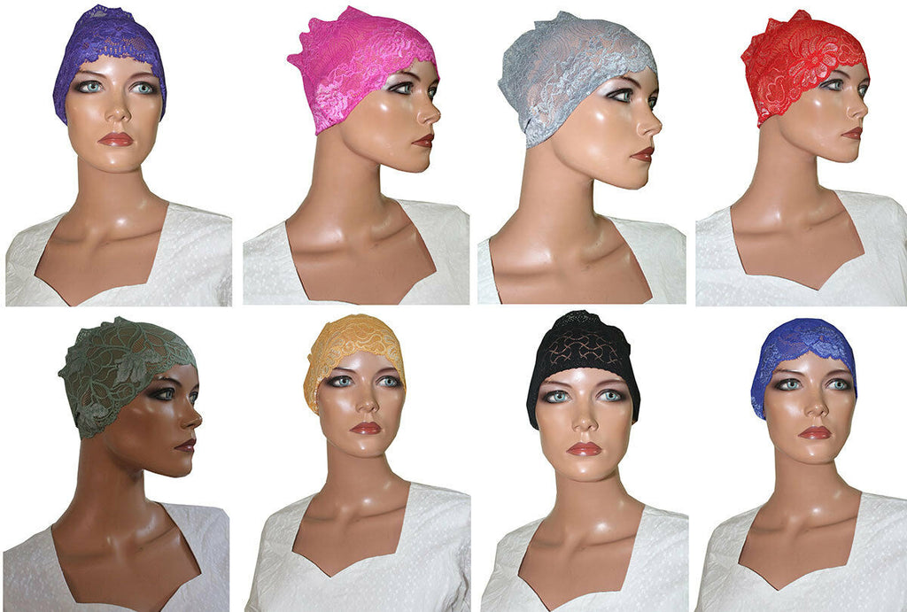 1 dozen Lace Tube Headbands 12 colors Hijab caps