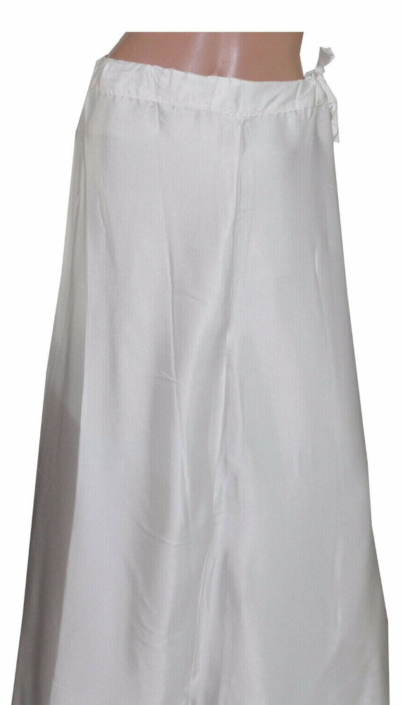 Load image into Gallery viewer, Cream  Satin Indian sari Petticoat Underskirt belly dancing  slip New Arrivals