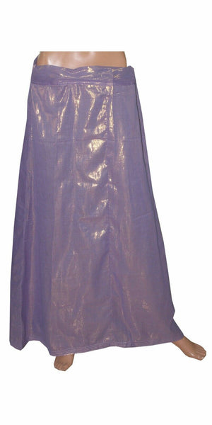 Purple Shimmer Indian sari Petticoat Underskirt belly slip New Arrivals