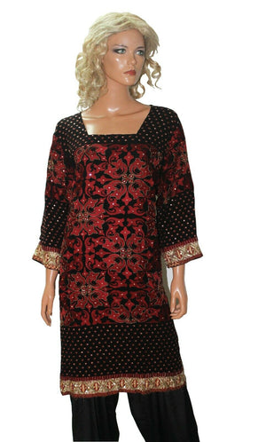 Black  Designer Party Wear  Dress Salwar kameez Plus  chest size 52