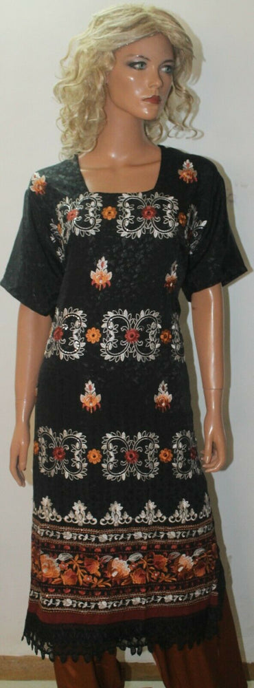 Load image into Gallery viewer, Charcoal Black Thread  Embroidered Designer Salwar kameez  Plus size 56