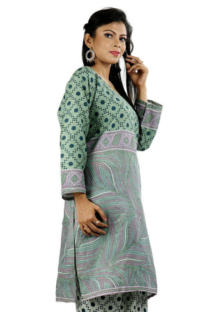 Cotton  Printed Designer Pakistani Traditional Dress Salwar kameez chest size 52