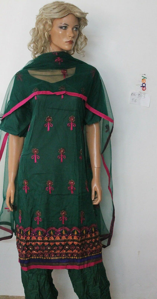 Load image into Gallery viewer, Green net  Dress Salwar suit By Manha Plus size 50,56