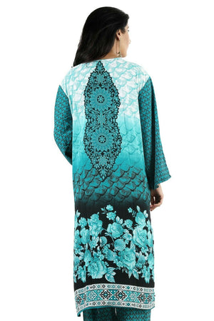 Load image into Gallery viewer, Blue Printed Designer  Salwar kameez Kurta Chest Plus  size 56 Fast ship  5 day