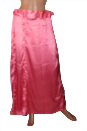 Pink Satin Indian saree Petticoat Underskirt belly dancing Lehanga slip