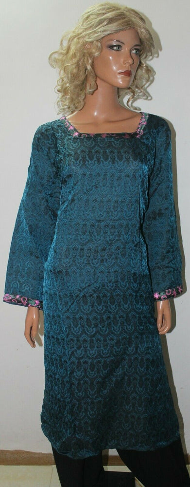 Blue Designer Ready Wear Salwar Kameez  chest 52 Full sleeves Fast ship New