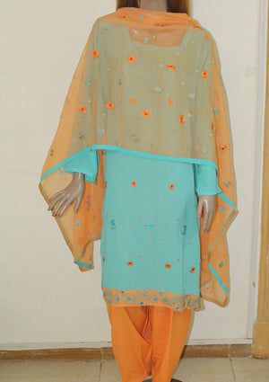 Blue Oranges 303 short sleeves Salwar kameez Festival arrivals suit Chest Sz 56