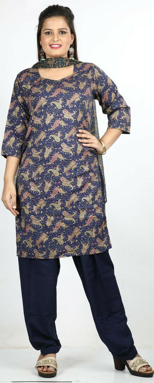 Load image into Gallery viewer, Blue Designer Salwar Kameez Kurta top Dress  chest 40  Stitched Ready Wear