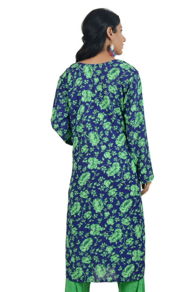 Load image into Gallery viewer, Green  Designer  Crepe  Indian  Salwar kameez Chest size 44  Fast ship  5 day