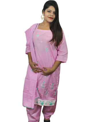 Load image into Gallery viewer, Pink  Designer Salwar kameez Kurta Dupatta Full Sleeves  Chest  Plus size 44