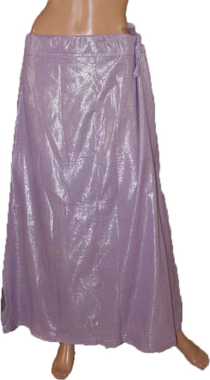 Light Purple Shimmer Indian sari Petticoat Underskirt belly slip New Arrivals