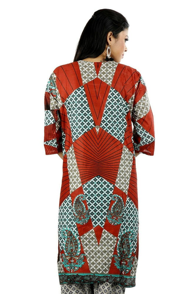 Load image into Gallery viewer, Cotton  Printed Designer Pakistani Traditional Dress Salwar kameez chest size 50