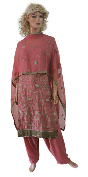 Load image into Gallery viewer, Dusty PInk salwar suit set plus size 56