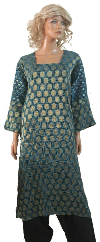 Blue Exclusive Crepe  Salwar kameez Plus size 56 Boutique New arrivals