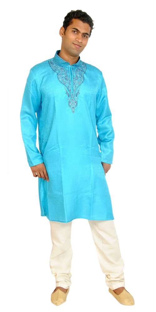 Blue Men Kurta Pajama Set