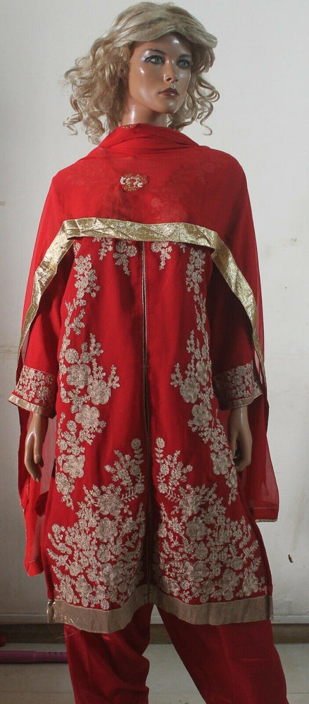 Thread  Embroidered Red Hot Collections Wedding  Salwar kameez Chest Size 50