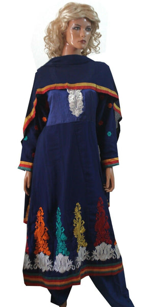 Load image into Gallery viewer, Blue Shilpa  Anarkali  Salwar kameez Party Wedding wear Chest size 44