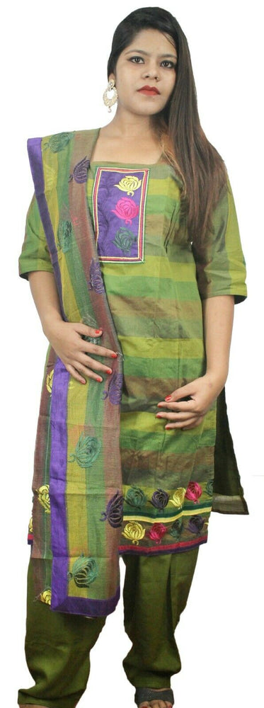 Green  Designer Salwar kameez Kurta Dupatta  Short Sleeves Chest  Plus size  50