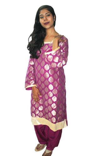 Load image into Gallery viewer, Purple  Designer Salwar kameez Kurta Dupatta pakistani Suit Plus Size 50