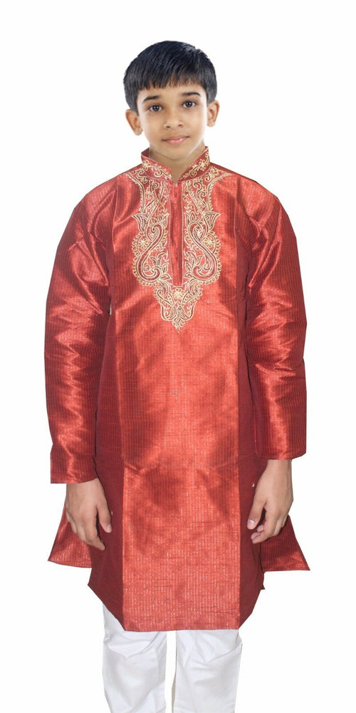 Burgundy Boys wedding Indian kurta Sherwani Set