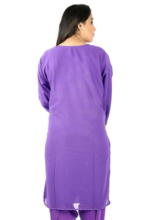 Load image into Gallery viewer, Purple Chiffon  Floral Designer Ethnic  Salwar kameez chest size 50