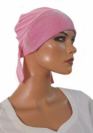 wholesale lot of 12 Hijab underscarf  Sparkle Hijab cap W Ties