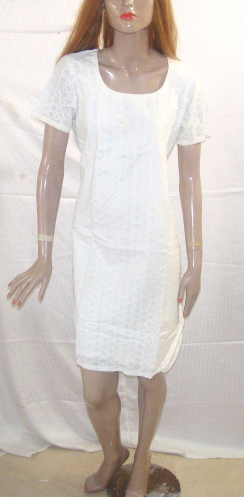 White 100% Cotton Yoga Indian Clothing Women kurta tunic Dress All sizes
